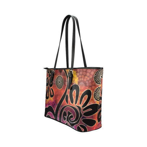 Exotic Vines Leather Tote Bag