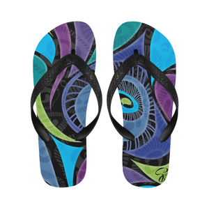 Bold-feather Flip Flops