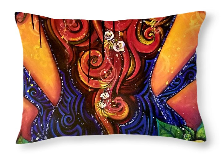 Girl On Fire - Throw Pillow