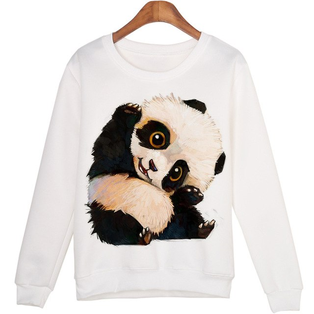 Cute Panda Sweatshirt - Panda Jewel