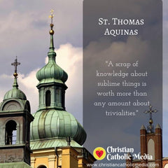 St. Thomas Aquinas - Saturday November 9, 2019