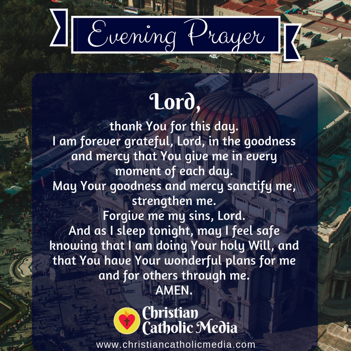 Evening Prayer Catholic Monday 8-3-2020