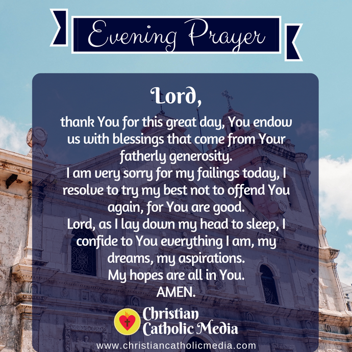 Evening Prayer Catholic Wednesday 8-5-2020