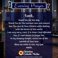 Evening Prayer Catholic Monday 12-9-2019