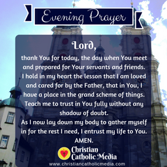 Evening Prayer Catholic Friday 2-14-2020