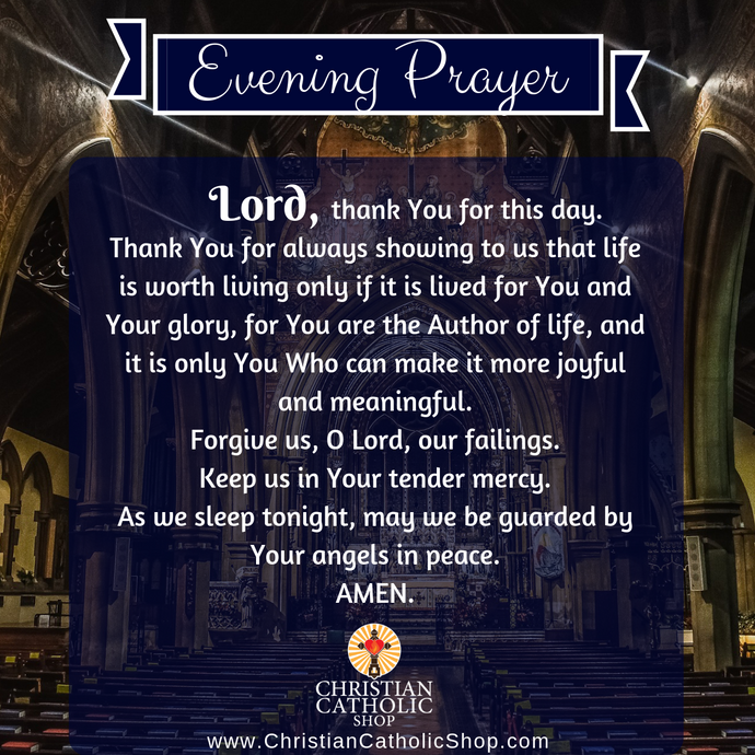 Evening Prayer Catholic Friday 1-10-2020