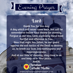 Evening Prayer Catholic Saturday 1-18-2020