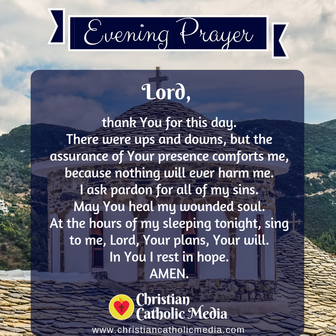 Evening Prayer Catholic Friday 1-3-2020