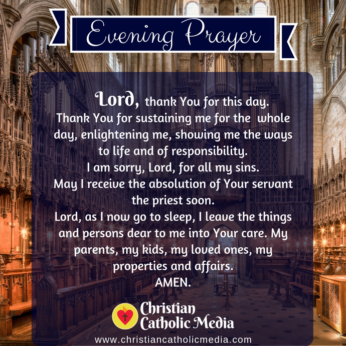 Evening Prayer Catholic Sunday 1-5-2020