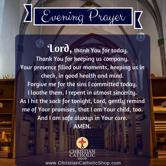 Evening Prayer Catholic Wednesday 1-8-2020
