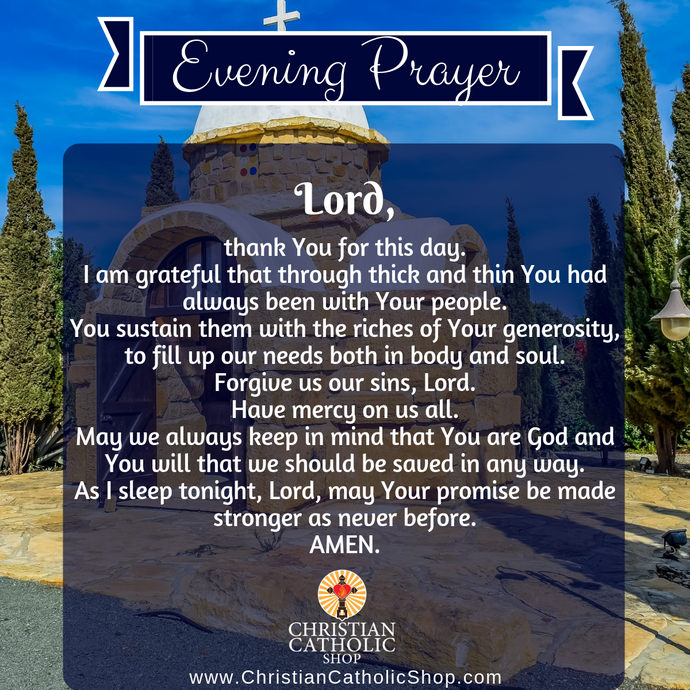 Evening Prayer Catholic Thursday 1-9-2020