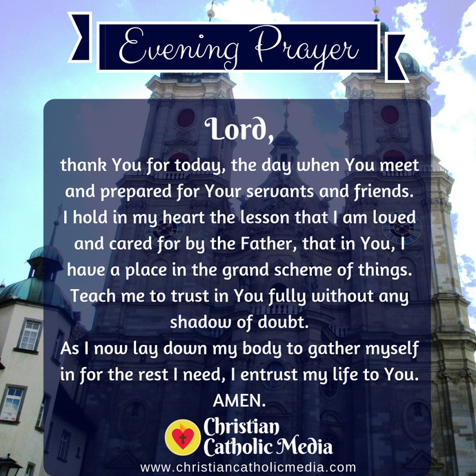 Evening Prayer Catholic Saturday 3-14-2020