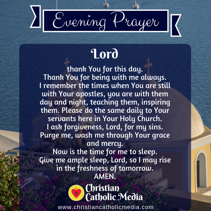 Evening Prayer Catholic Monday 3-16-2020