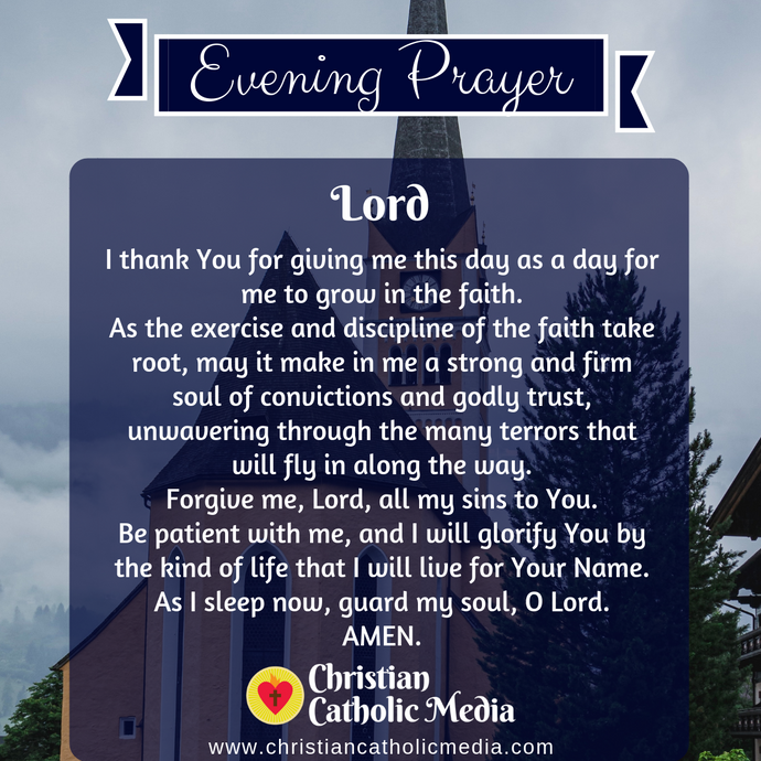 Evening Prayer Catholic Tuesday 3-17-2020