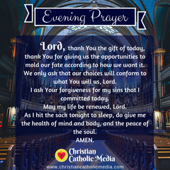 Evening Prayer Catholic Monday 5-25-2020