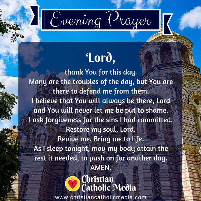 Evening Prayer Catholic Thursday 10-22-2020