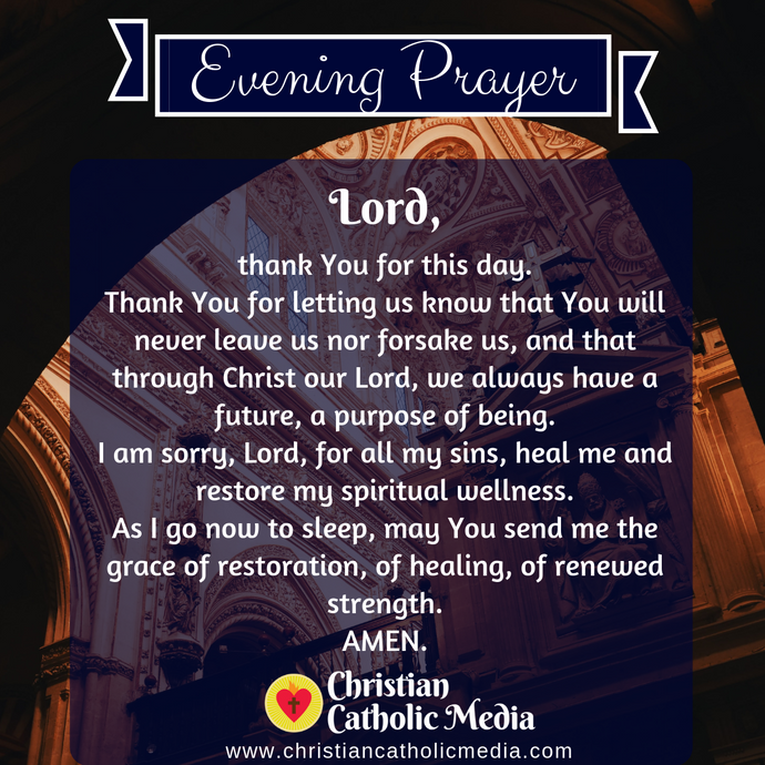 Evening Prayer Catholic Friday 10-23-2020