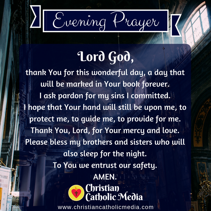 Evening Prayer Catholic Saturday 3-21-2020