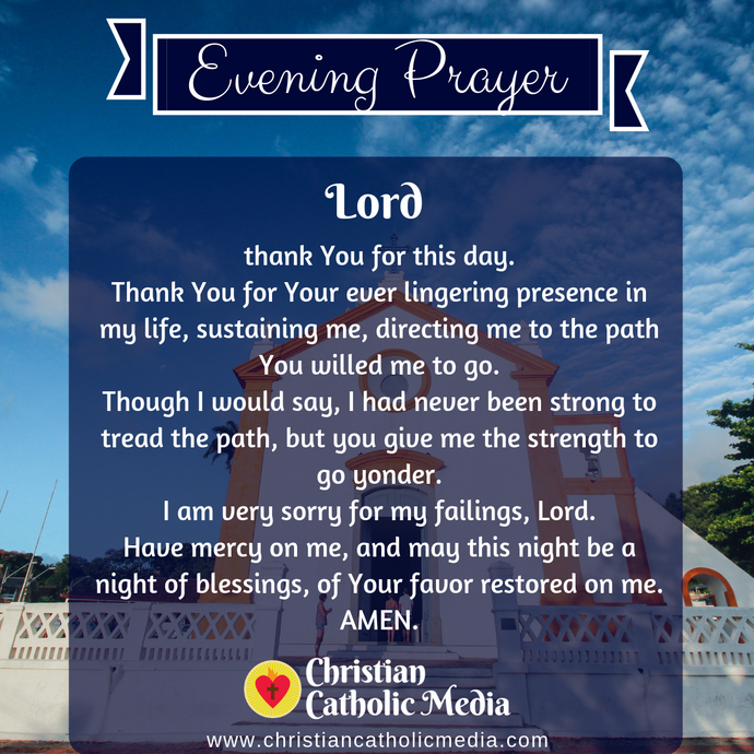 Evening Prayer Catholic Sunday 3-8-2020