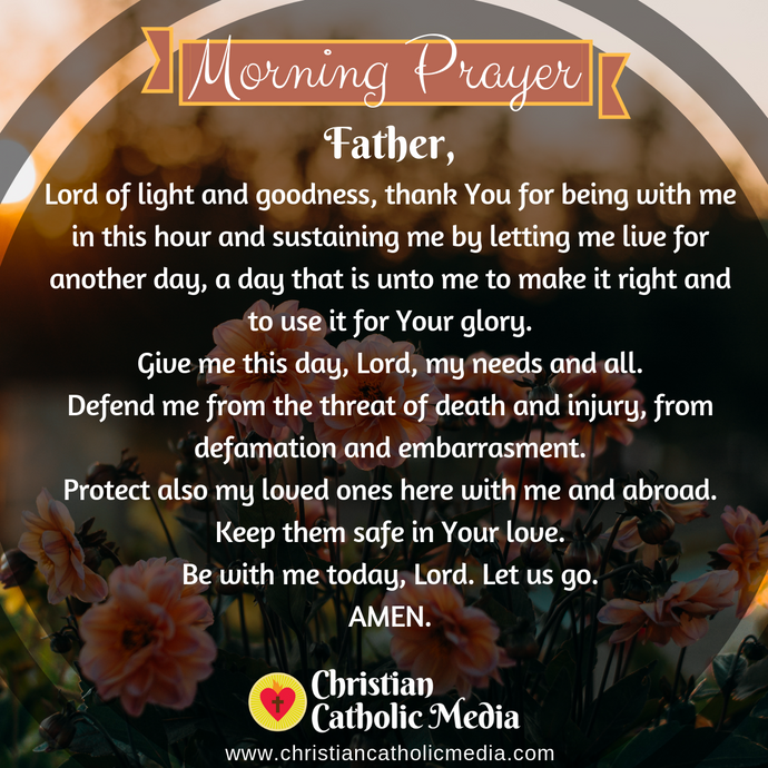 Catholic Morning Prayer Monday 8-10-2020
