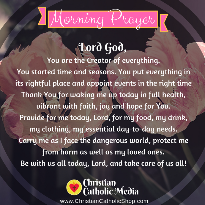 Catholic Morning Prayer Monday 8-3-2020