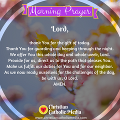 Morning Prayer Catholic Sunday 3-22-2020