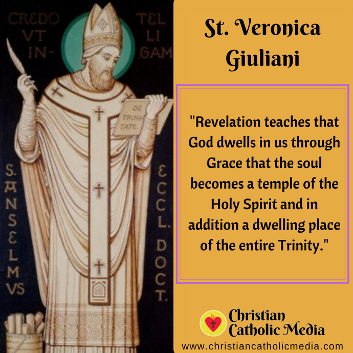 St. Veronica Giuliani - Friday July 10, 2020