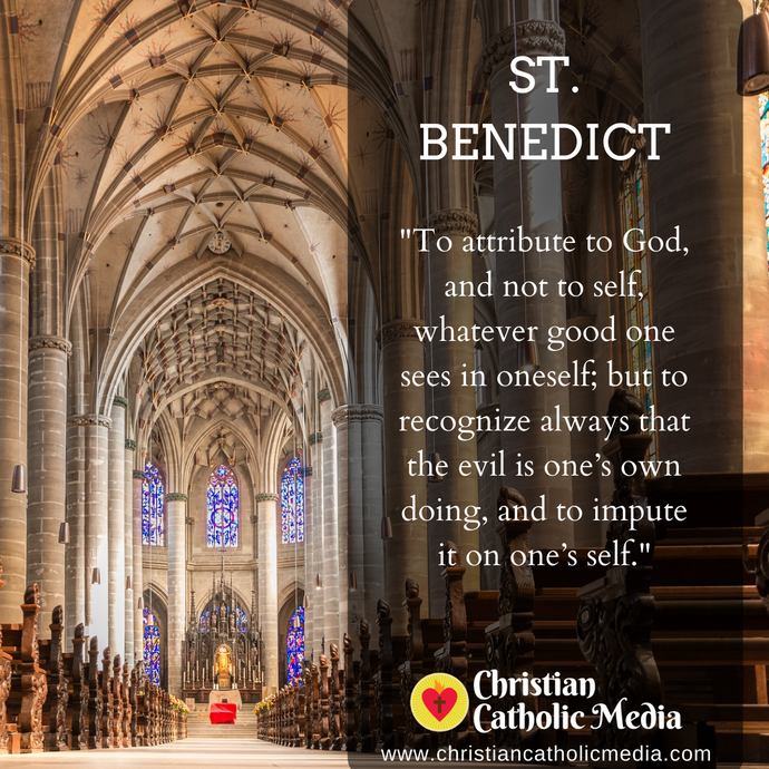 St. Benedict - Wednesday July 8, 2020