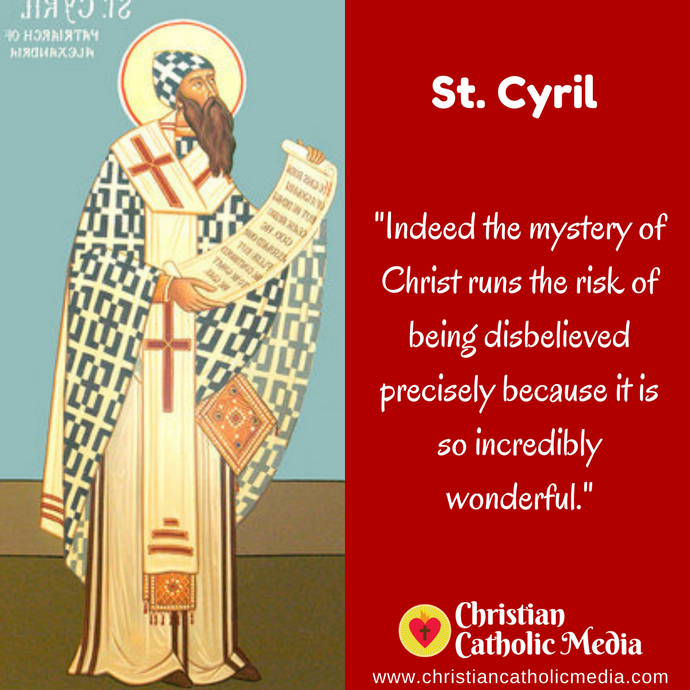 St. Cyril - Saturday June 27, 2020