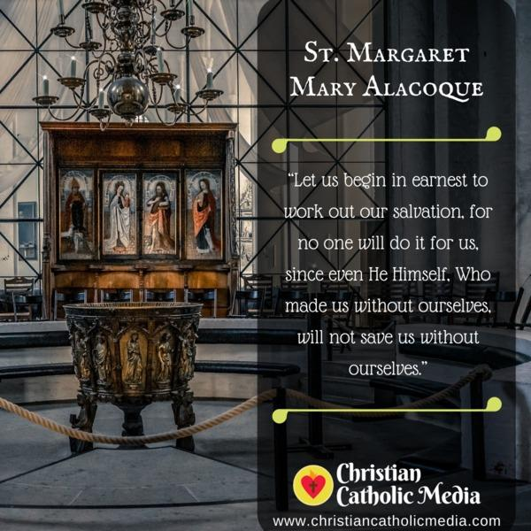 St. Margaret Mary Alacoque - Saturday November 16, 2019