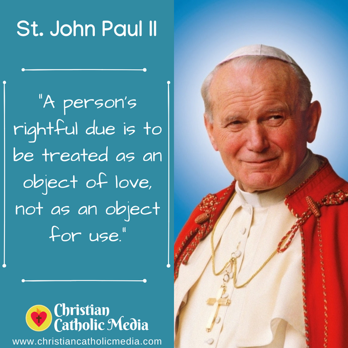 St. John Paul II - Thursday October 22, 2020