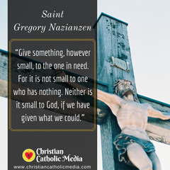 St. Gregory Nazianzen - Monday May 18, 2020