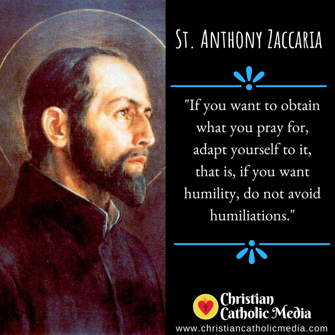St. Anthony Zaccaria - Sunday July 5, 2020
