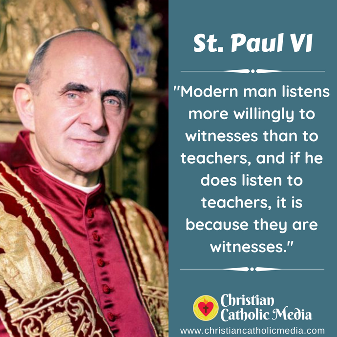 St. Paul VI - Saturday September 26, 2020