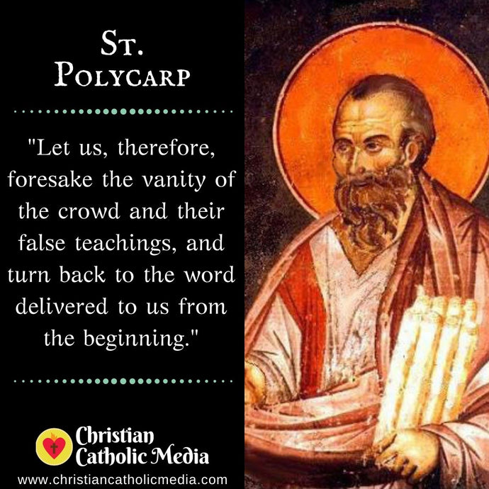 St. Polycarp - Tuesday February 23, 2021