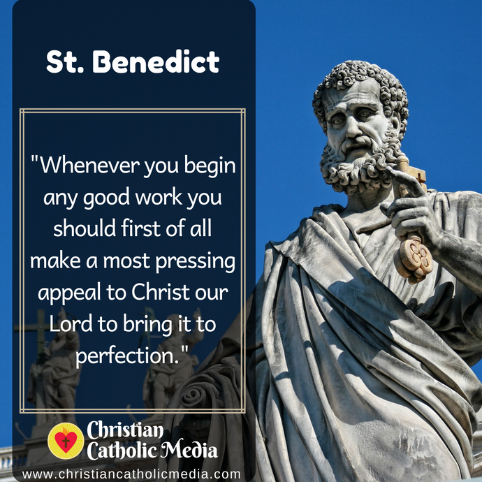 St. Benedict - Saturday July 11, 2020