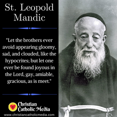 St. Leopold Mandic - Wednesday May 12, 2021