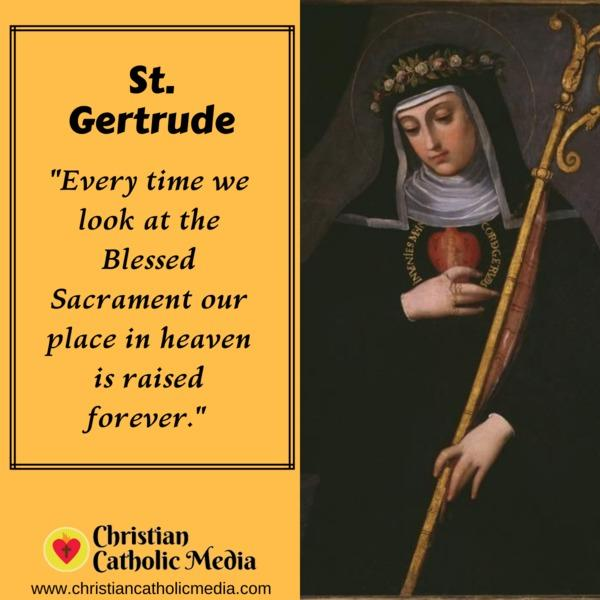 St. Gertrude - Thursday November 14, 2019