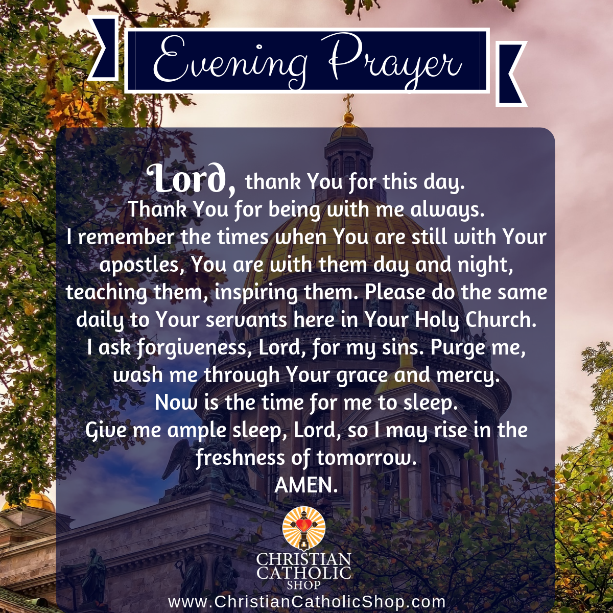 Evening Prayer Catholic Saturday 4-11-2020