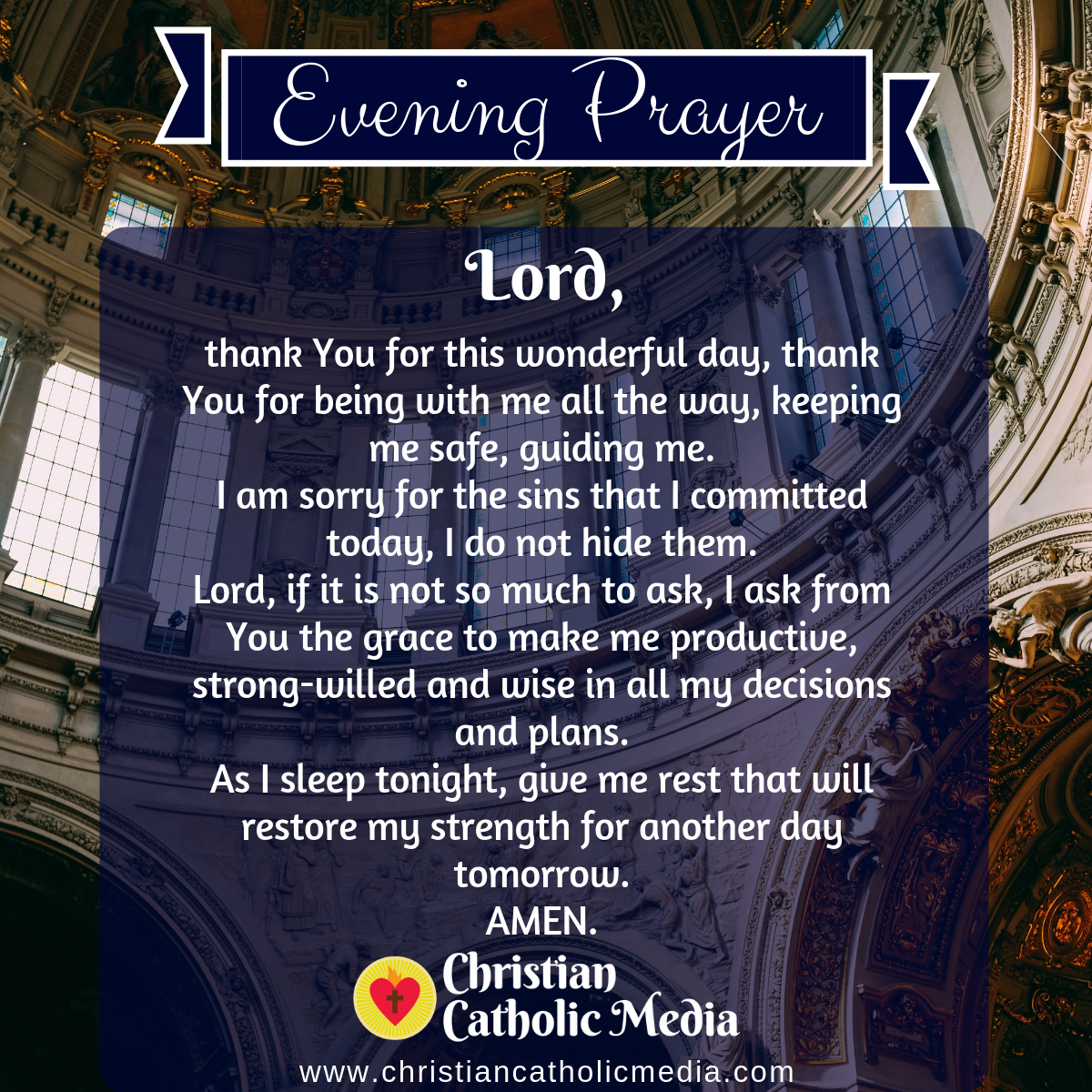 Evening Prayer Catholic Saturday 4-4-2020