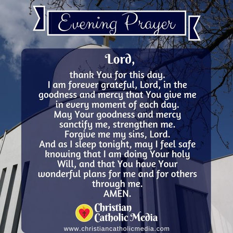 Evening Prayer Catholic Thursday 8-1-2019