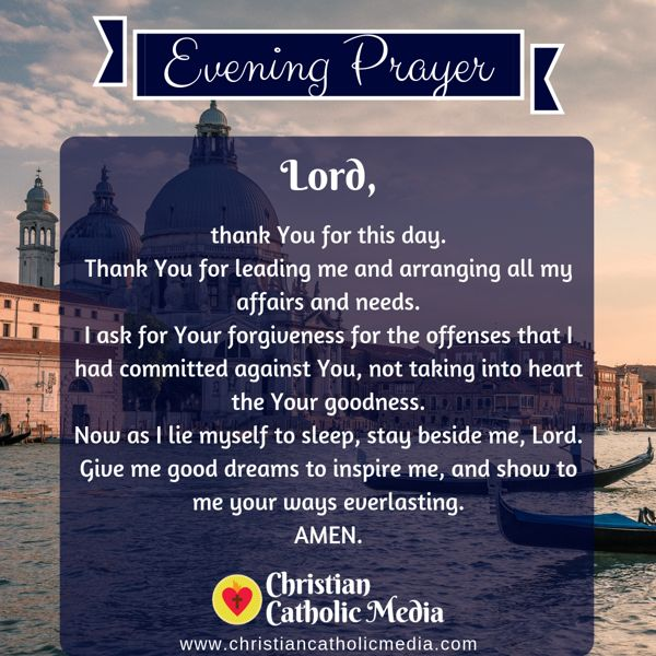 Evening Prayer Catholic Sunday 8-25-2019