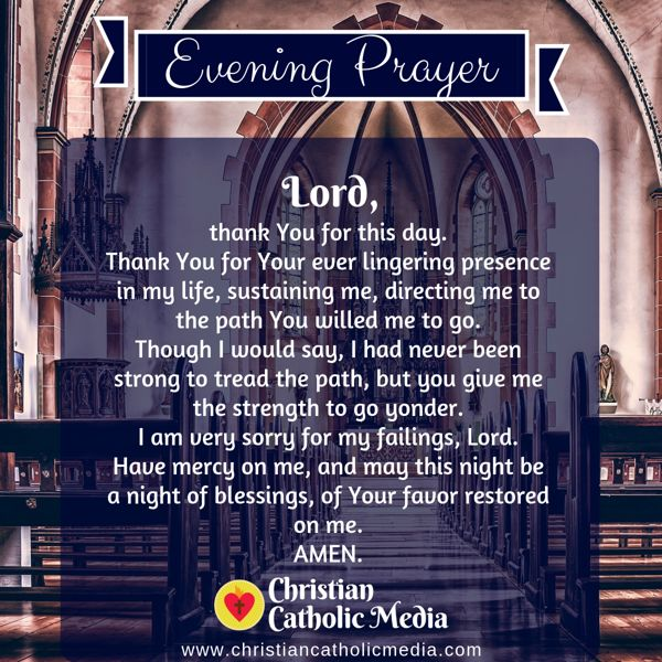 Evening Prayer Catholic Wednesday 8-28-2019