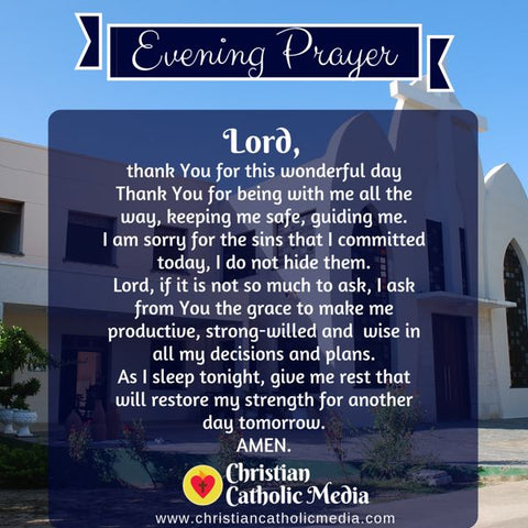 Evening Prayer Catholic Friday 8-2-2019