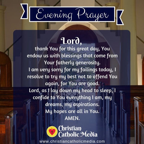 Evening Prayer Catholic Saturday 8-3-2019