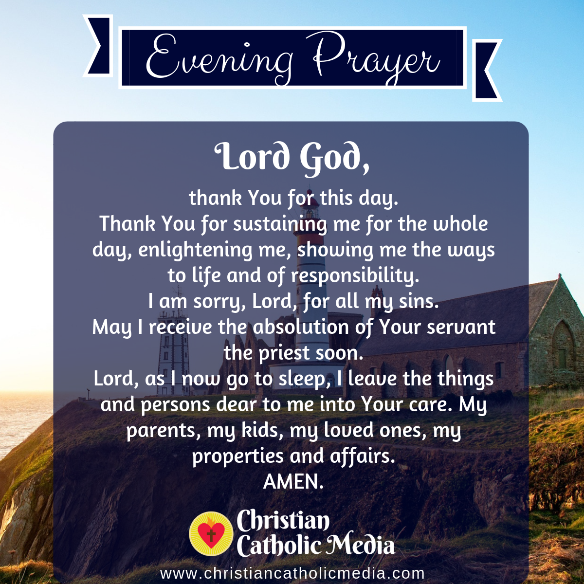 Evening Prayer Catholic Friday 6-26-2020
