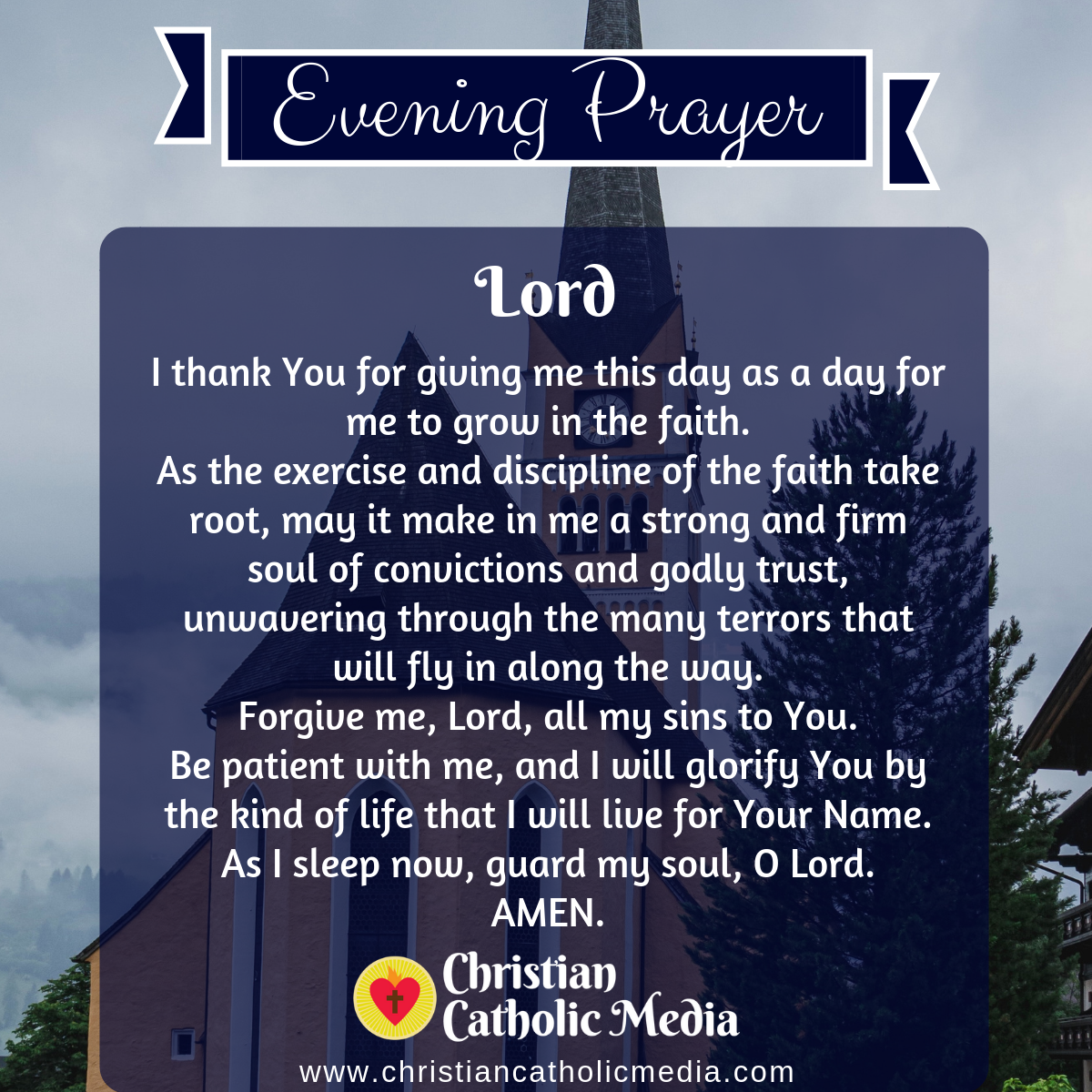 Evening Prayer Catholic Thursday 3-5-2020