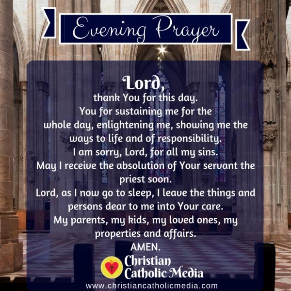 Evening Prayer Catholic Friday 11-15-2019