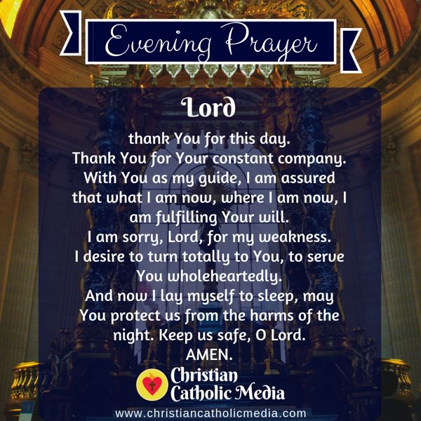 Evening Prayer Catholic Wednesday 10-16-2019