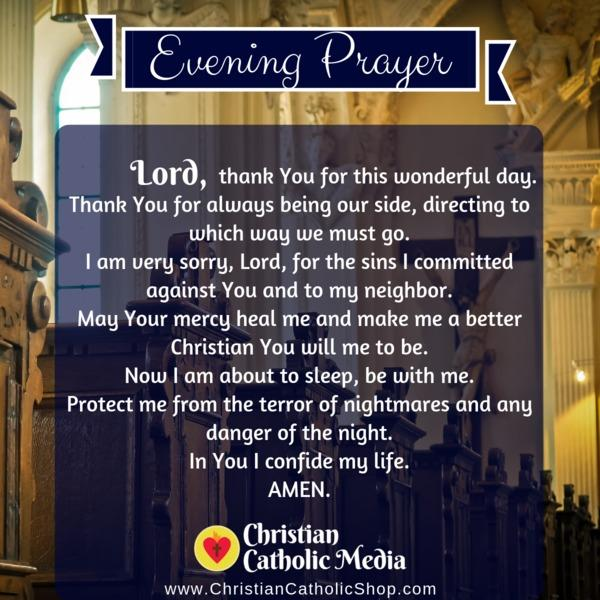 Evening Prayer Catholic Thursday 10-31-2019